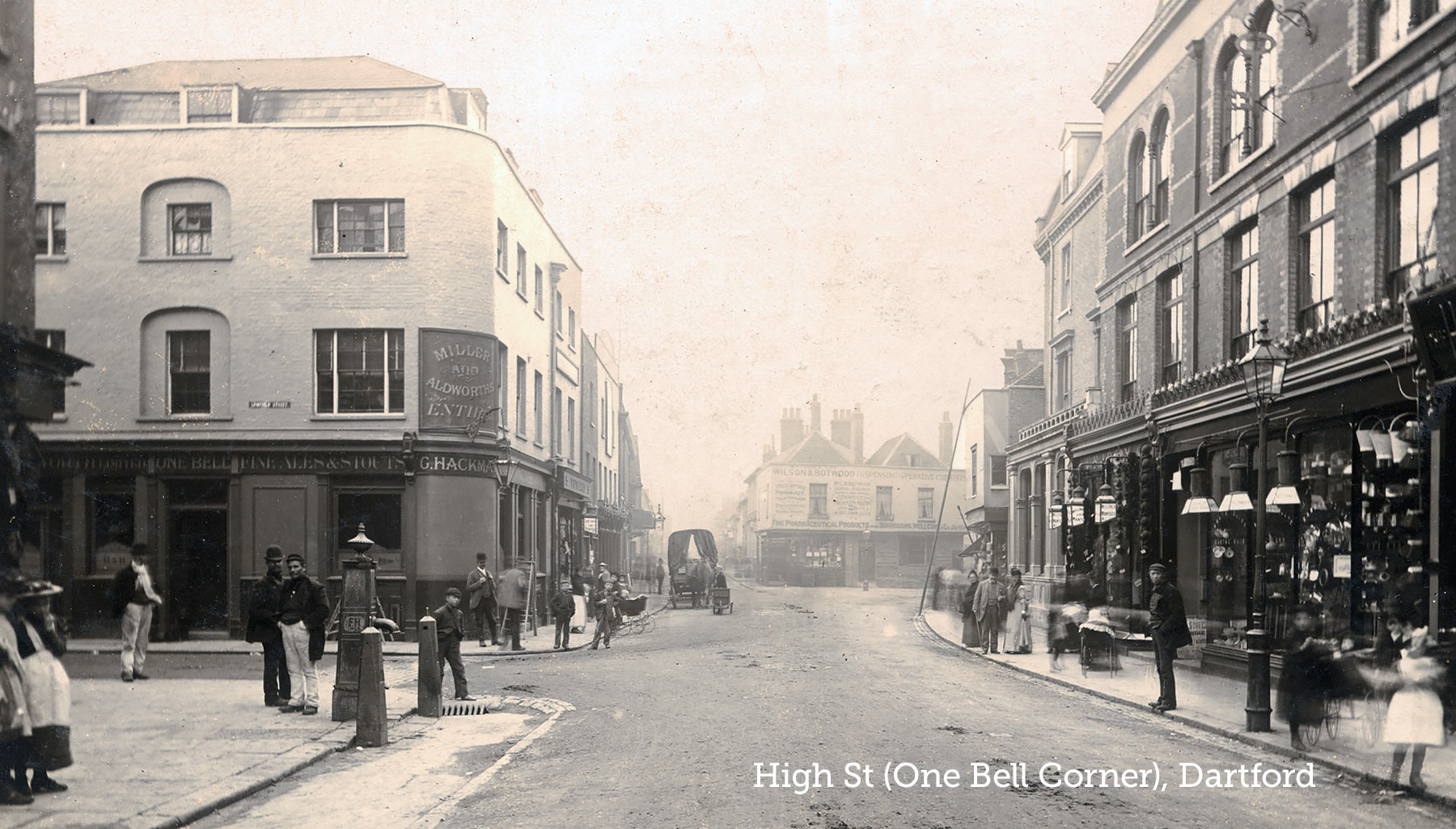 Dartford High St (One Bell) c1890s