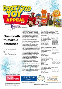 Dartford Toy Appeal Poster