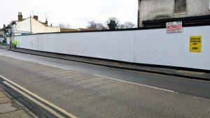 Tesco Hoarding Lowfield Street, 7 Feb 2015