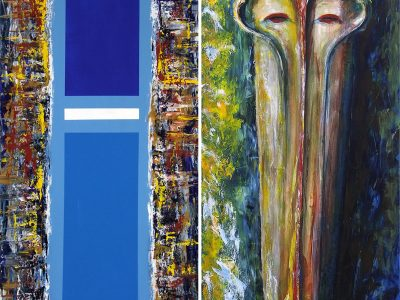 'Blue Sky' and 'Mask-II'