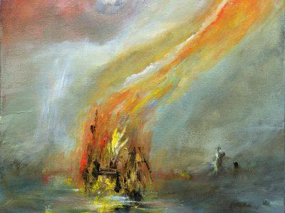 Burning Wreck