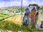 Coldrum Longbarrow Sketch