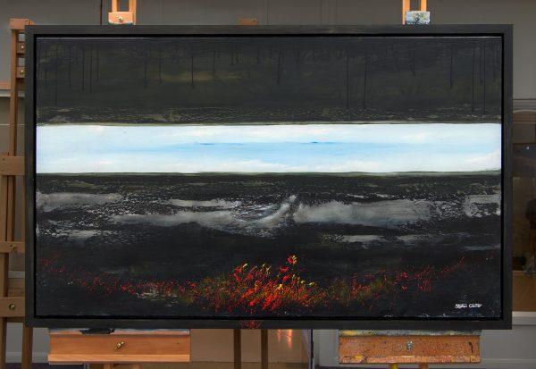 Turmoil II (framed)